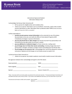 International	Sponsored	Student Information	Release	Form I	acknowledge	that	Kansas	State	University	will: