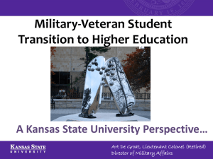 Military-Veteran Student Transition to Higher Education A Kansas State University Perspective…