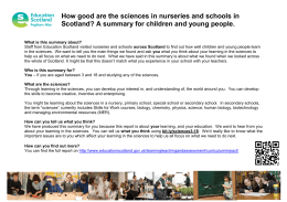 How good are the sciences in nurseries and schools in