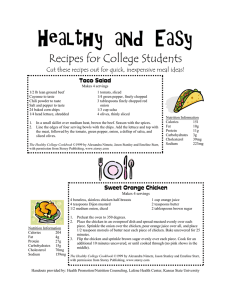 Healthy and Easy Recipes for College Students Taco Salad