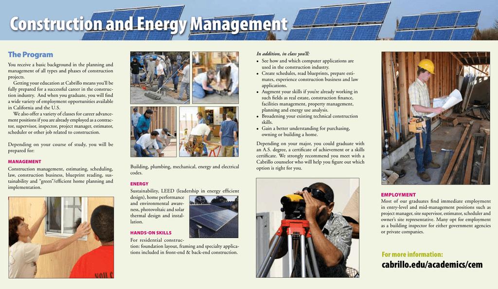 Construction and energy management the program malvernweather Images