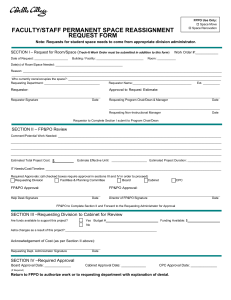 FACULTY/STAFF PERMANENT SPACE REASSIGNMENT REQUEST FORM