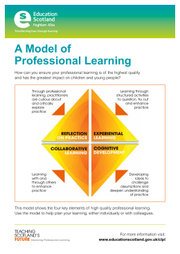 A Model of Professional Learning