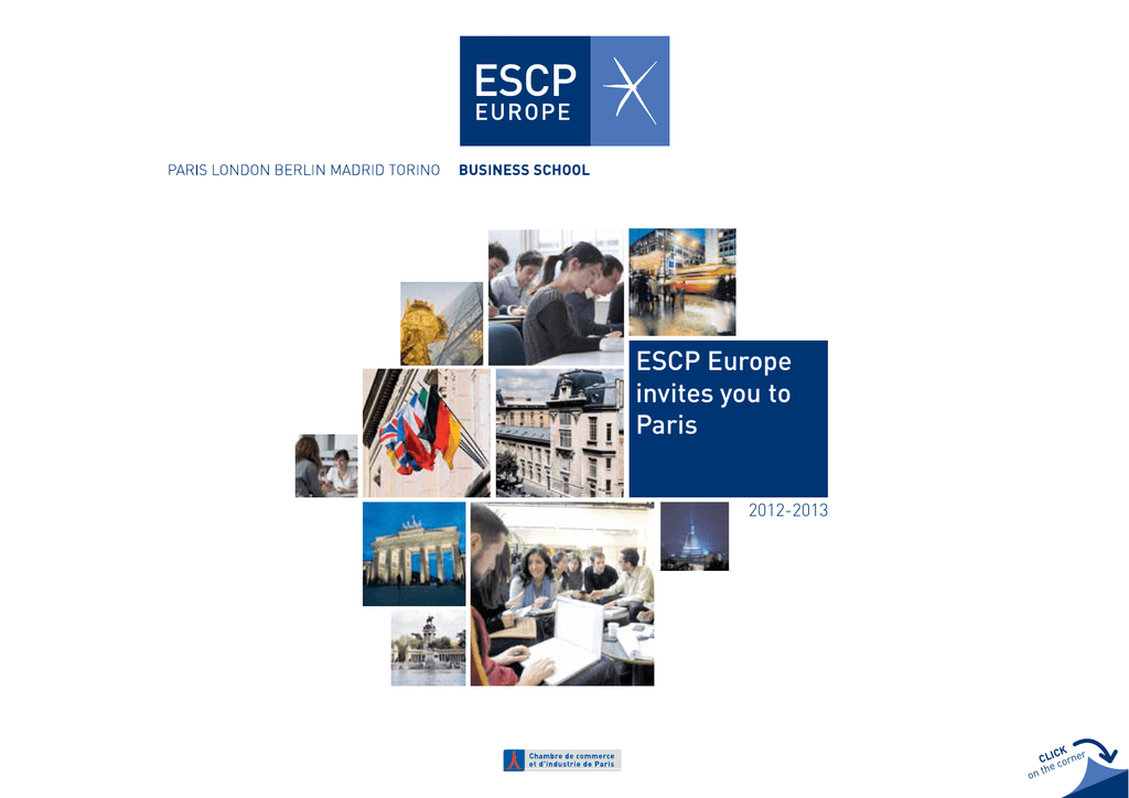 ESCP Europe Invites You To Paris 2012 2013