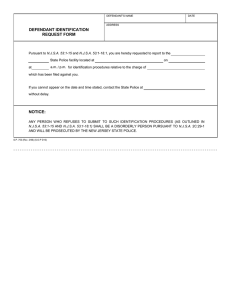 DEFENDANT IDENTIFICATION REQUEST FORM