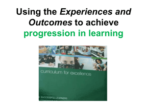 Experiences and Outcomes progression in learning