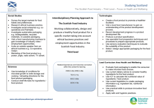 Studying Scotland  Interdisciplinary Planning Approach to