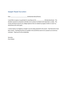 Sample Thank You Letter: