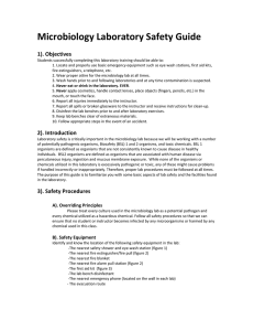 Microbiology Laboratory Safety Guide    1). Objectives