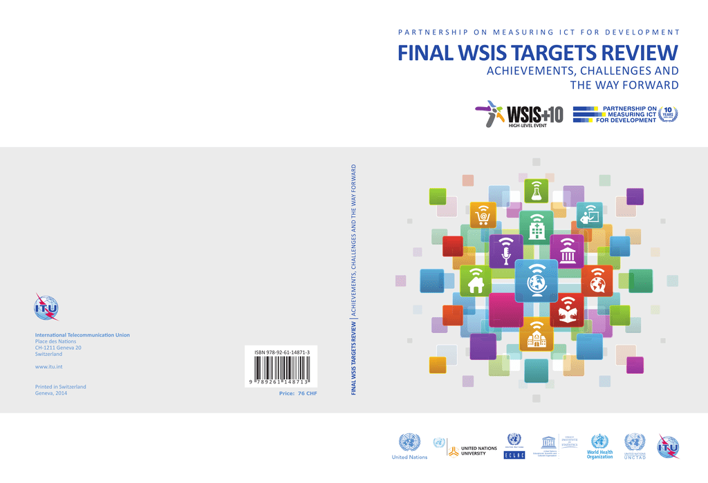 FINAL WSIS TARGETS REVIEW ACHIEVEMENTS, CHALLENGES AND THE WAY FORWARD