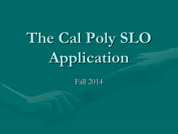 cal poly application essays