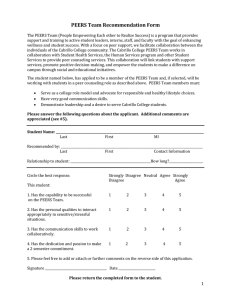PEERS Team Recommendation Form