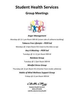 Student Health Services Group Meetings