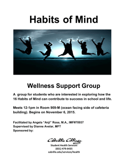 Habits  of Mind  Wellness Support Group