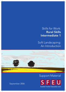 Skills for Work: Soft Landscaping: An Introduction Support Material