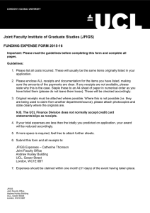 Joint Faculty Institute of Graduate Studies (JFIGS) FUNDING EXPENSE FORM 2015-16
