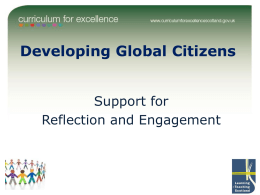 Developing Global Citizens Support for Reflection and Engagement