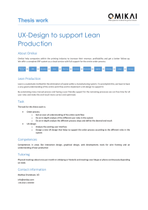 UX-Design to support Lean Production  Thesis work