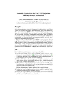 Assessing Feasibility of Static WCET Analysis for Industry-strength Applications