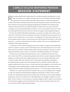 R MISSION STATEMENT •