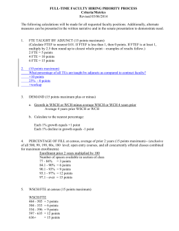 FULL-TIME FACULTY HIRING PRIORITY PROCESS Criteria/Metrics Revised 03/06/2014