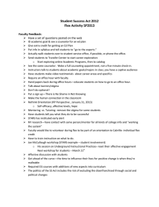 Student Success Act 2012 Flex Activity SP2013  Faculty Feedback: