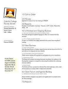 1.0 Call to Order 2.0 Minutes Cabrillo College Faculty Senate
