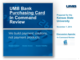 UMB Bank Purchasing Card In Command Review