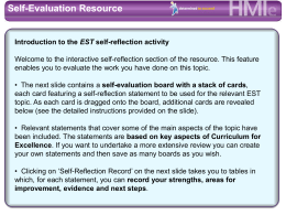 Self-Evaluation Resource