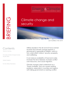 G BRIEFIN Climate change and security
