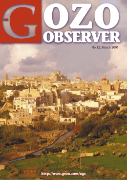 31 THE GOZO OBSERVER (No.12)  -  March 2005