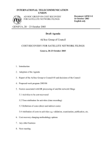 INTERNATIONAL TELECOMMUNICATION UNION Draft Agenda