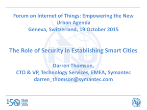 The Role of Security in Establishing Smart Cities