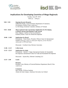 Implications for Developing Countries of Mega-Regionals