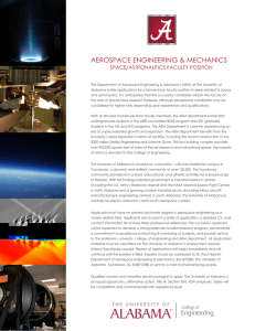 AEROSPACE ENGINEERING & MECHANICS SPACE/ASTRONAUTICS FACULTY POSITION