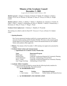 Minutes of the Graduate Council December 3, 2002