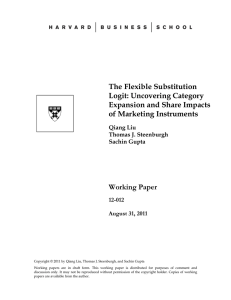 The Flexible Substitution Logit: Uncovering Category Expansion and Share Impacts of Marketing Instruments
