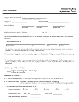 Telecommuting Agreement Form