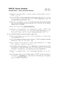 MA231 Vector Analysis Example Sheet 1: Hints and partial solutions