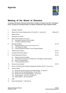 Agenda  Meeting  of  the  Board  of ...