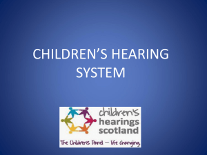 CHILDREN'S HEARING SYSTEM