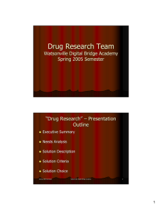 "Drug Research Team "" Drug Research """