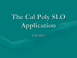 cal poly slo essay prompts But with all the factors, one common admissions tool is missing: cal poly has never required an essay for admission i think the essay can be good or bad, aerospace engineering freshman alex zahn said.
