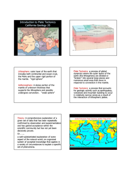 Introduction to Plate Tectonics California Geology 20