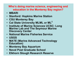 Who's doing marine science, engineering and MBARI Stanford: Hopkins Marine Station