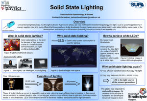 Solid State Lighting Overview