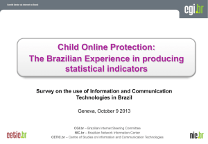 Child Online Protection: The Brazilian Experience in producing statistical indicators