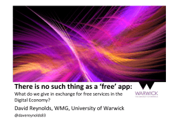 There is no such thing as a 'free' app: Digital Economy?