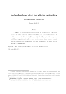 A structural analysis of the inflation moderation ∗ Miguel Casares and Jesús Vázquez
