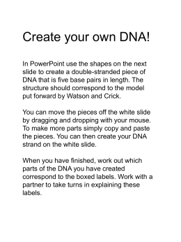 Create your own DNA!